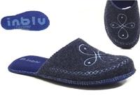Тапочки войлочные Инблу синие (арт. 1101-син)
