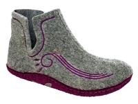 Тапочки войлочные Инблу сапожки (арт. 1110-серый/волна)