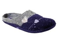 Тапочки войлочные Инблу сердечки синие (арт. 1111-син)