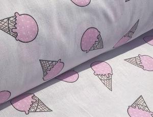 Наволочка Валик бязь мороженки розовые