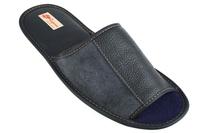 Домашние тапочки кожаные Рапана 1 (арт. 713046-синий)