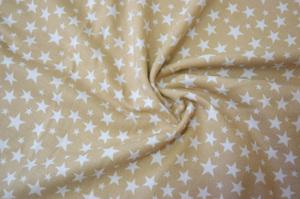 Наволочка U 350х35 трикотаж звезды на бежевом