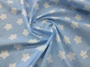 Наволочка Бумеранг 220х35 бязь звезды на голубом