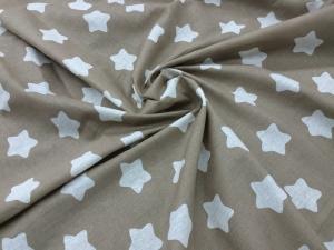 Наволочка Бумеранг 220х35 бязь звезды на коричневом