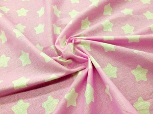 Наволочка Валик бязь звезды на розовом