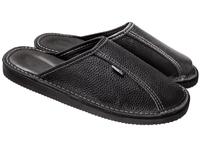 Тапочки домашние мужские кожаные (арт. 710-4 черн)