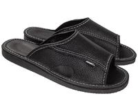 Тапочки домашние мужские кожаные (арт. 710-9 черн)