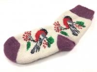 Шерстяные носки Снегири