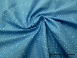 Наволочка U 350х35 бязь горох на голубом