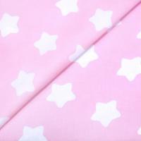 Наволочка Big 280х35 бязь звезды на розовом