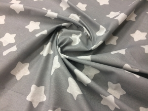 Наволочка Рогалик 340х35 бязь звезды на сером