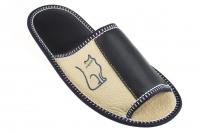 Домашние тапочки кожаные Рапана 6 (арт. 513091-син.)