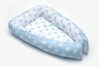 Кокон-гнездышко для новорожденного голубой (арт. 34.1)