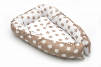 Кокон-гнездышко для новорожденного коричневый (арт. 34.1)