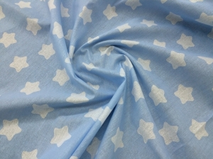 Наволочка U 350х35 бязь звезды голубые