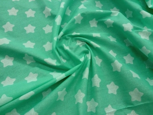 Наволочка Рогалик 340х35 бязь звезды на салатовом