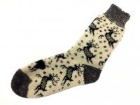 Шерстяные носки муж. Олени