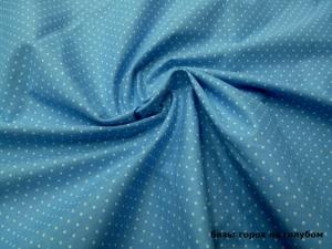 Наволочка Рогалик 340х35 бязь горох на голубом