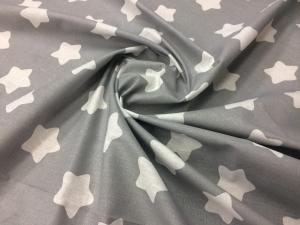 Наволочка Бумеранг 220х35 бязь звезды на сером